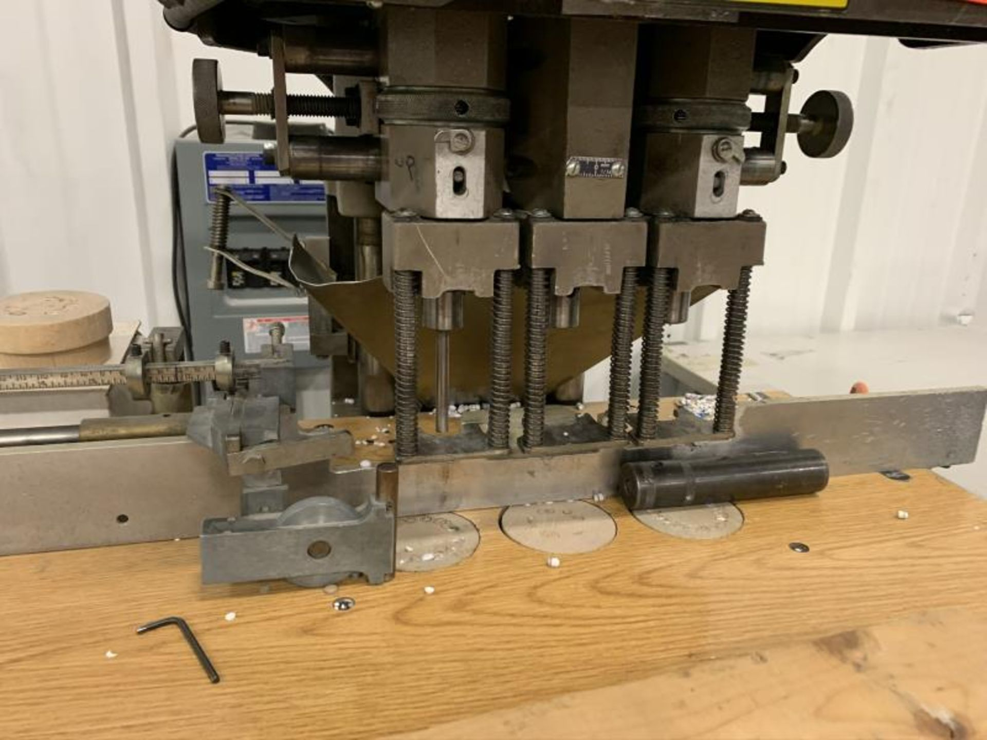 Lot 7 - Three Spindle Paper Drill by Challenge, Model: EH-3A, SN: 66527