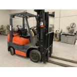 Toyota Forklift, M: 42-6FGCU25, SN: 60175, Triple mast, Propane, side shift, 8439 hours. Late