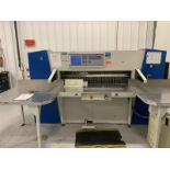 Paper Cutter by Wohlenberg, Model: 137, Made 2013, 3 Spare Blades, SN: 211.926