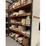 5 Shelf pallet rack, 8', with contents