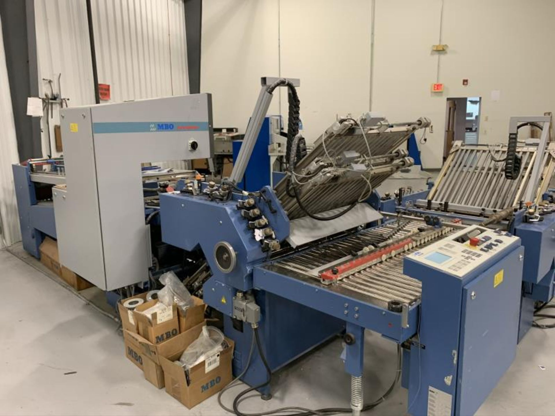 Lot 4 - MBO Perfection Folder: Main Unit: Model: B26-S-1-26/6VN, SN: 8162, made 2003: (8) Page Unit: