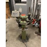 The Cincinetti Type double end pedestal grinder, PSAY121, 1/3 Hp