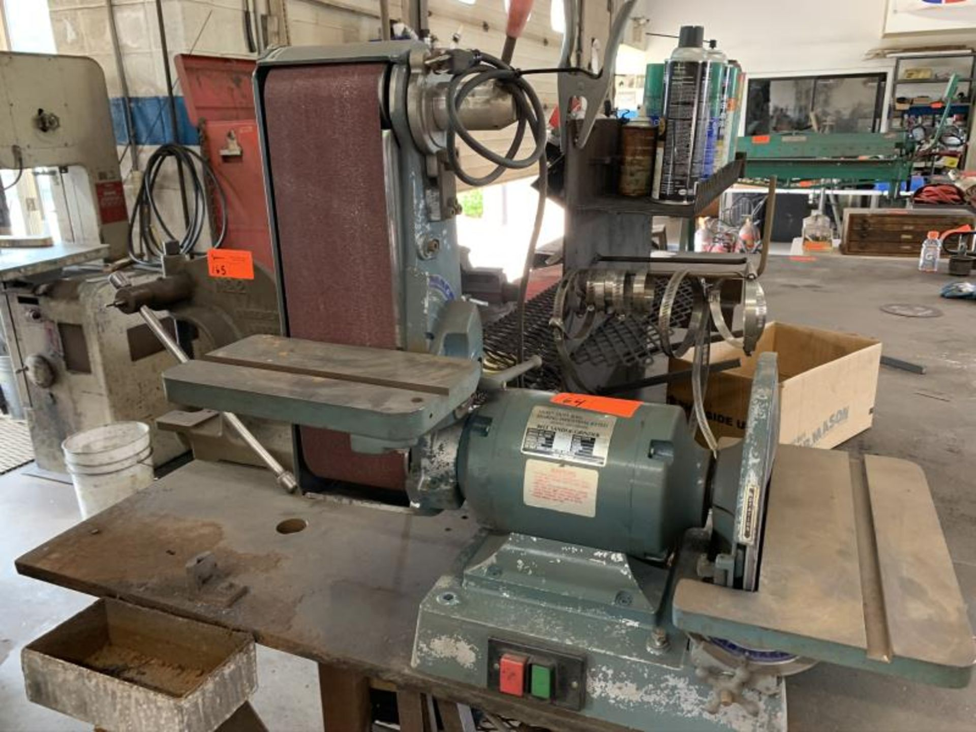 Lot 164 - Heavy duty ball bearing Ind. Belt sanding grinder