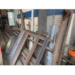 Steel Floor Mount stock rackwith 3 posts & Misc steel bar, stock, misc pipes