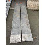"Aluminum Diamond Plate Ramps 7'6"" x 12"""