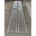 "Custom Aluminum Set of Ramps 9'9""x12""wide"