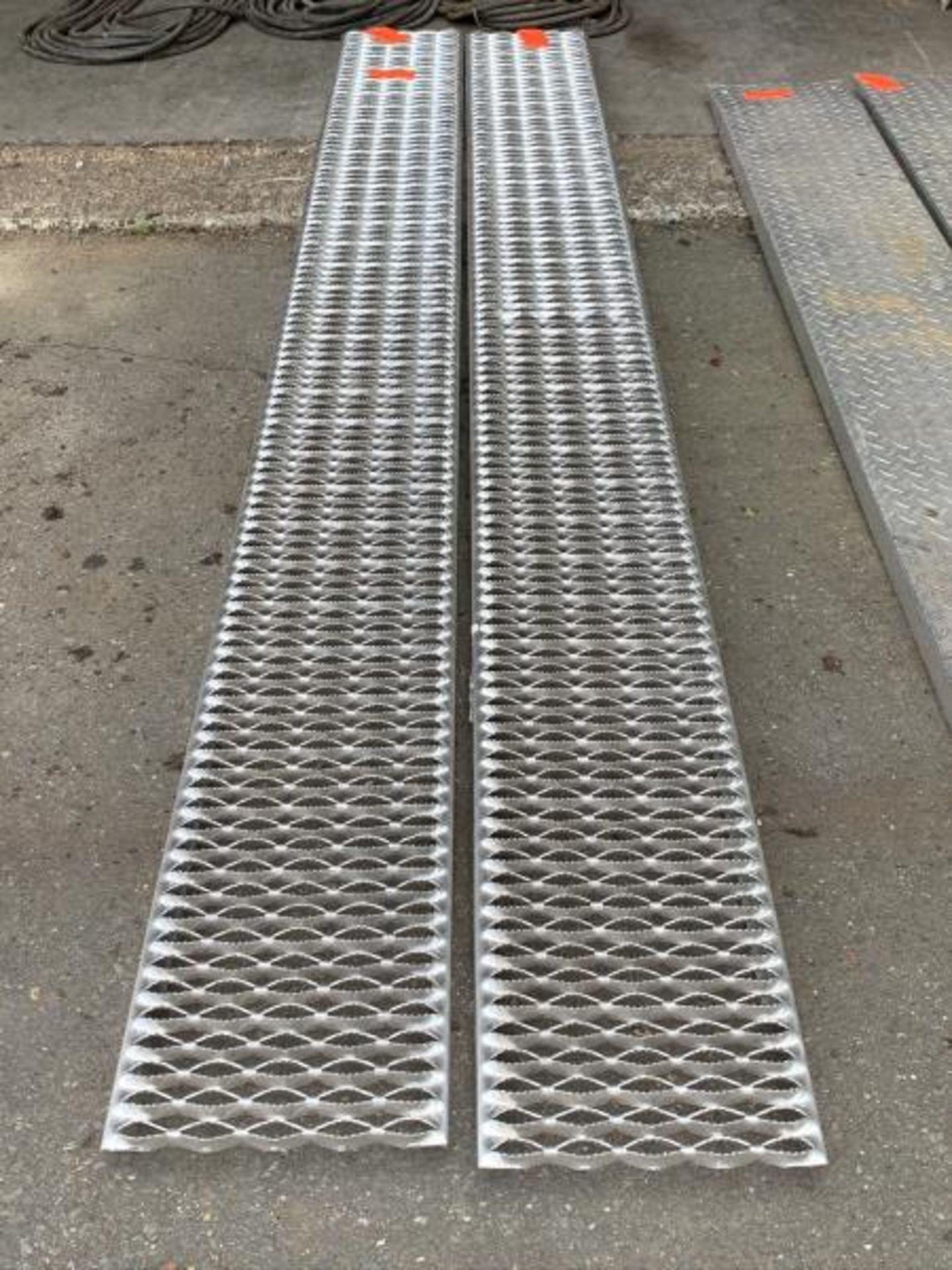 "Lot 2 - Custom Aluminum Set of Ramps 9'9""x12""wide"