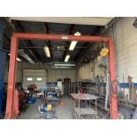 """Rolling Hoist with Budget 1 ton lift, 10'8"""" height x 10'10"""" wide"""