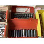 "Tekton sockets & Sunex 10 piece 3/8"" metric impact socket set"