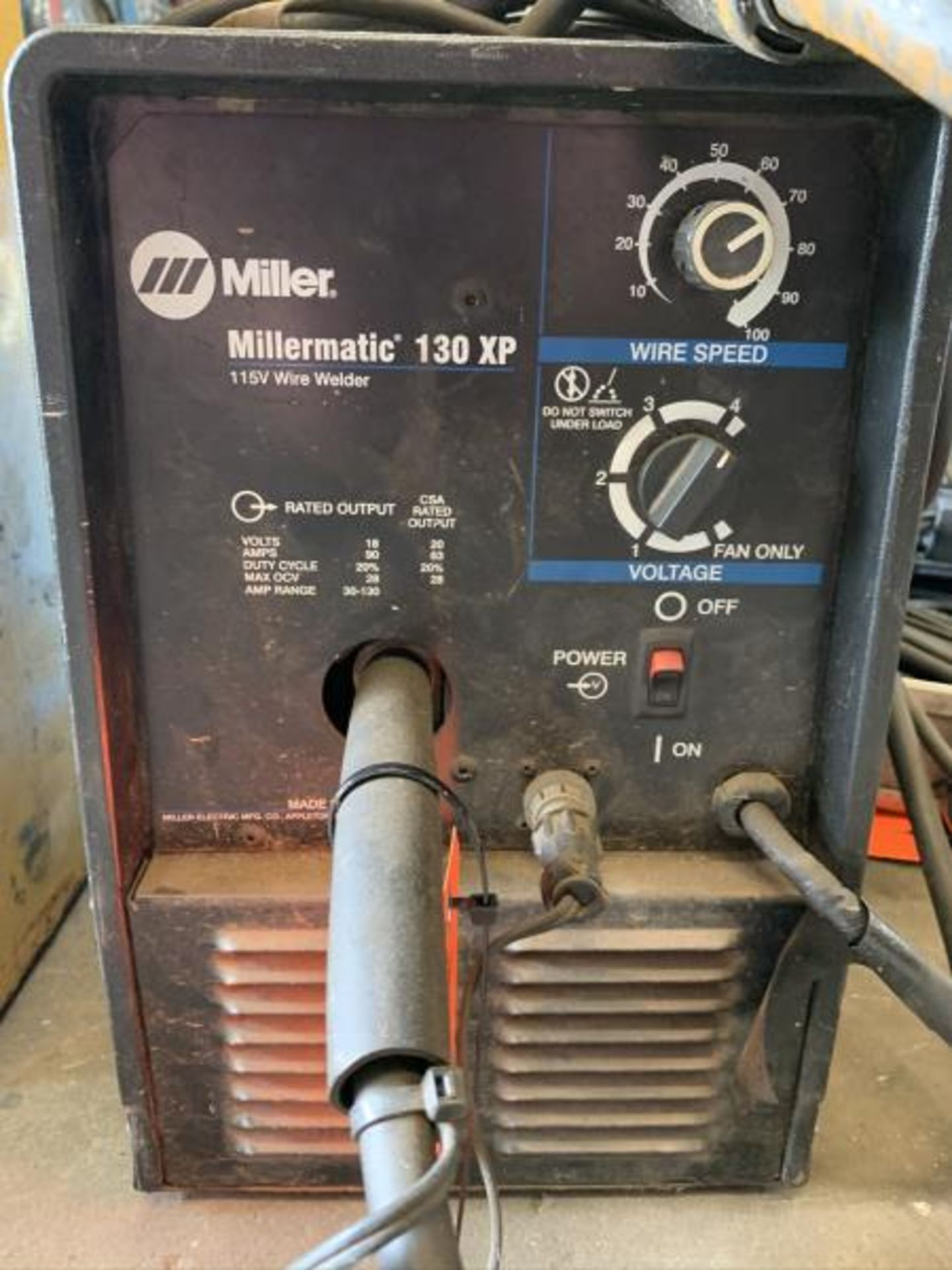 Lot 21 - Millermatic 130XP 115 wire welder