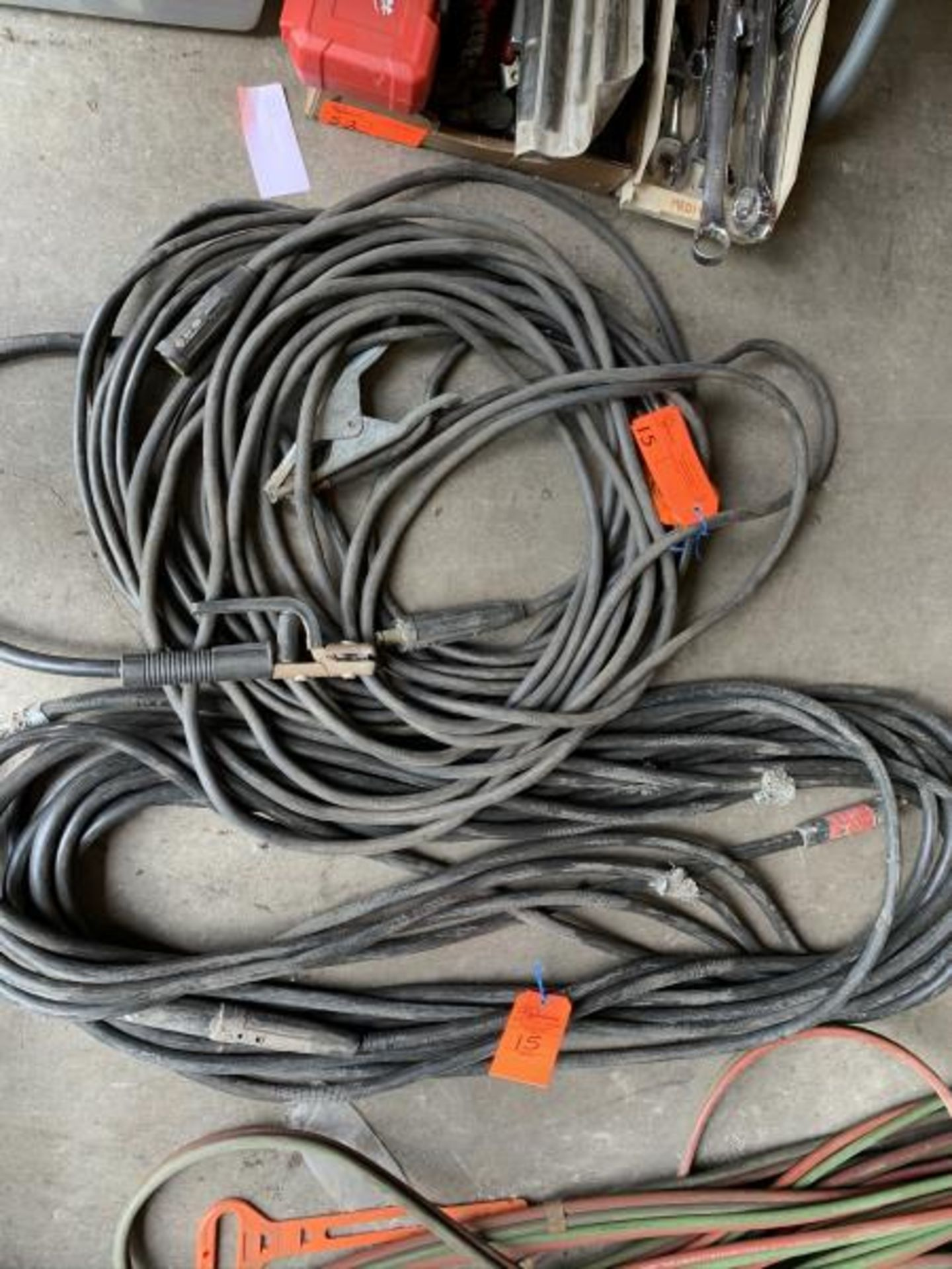Lot 15 - (2) 50' Arcf Welding cables