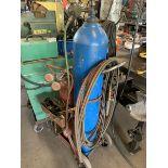 Welding torch, gauges & cart (no tanks)