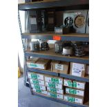 Contents of 4 Shelves - Meter Sockets, Safety Switches, (13) Siemen 125 Amp Main Lug