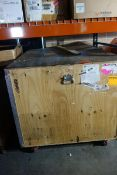 Large Wooden Crate w/ Aluminum Frame Trae Show Display