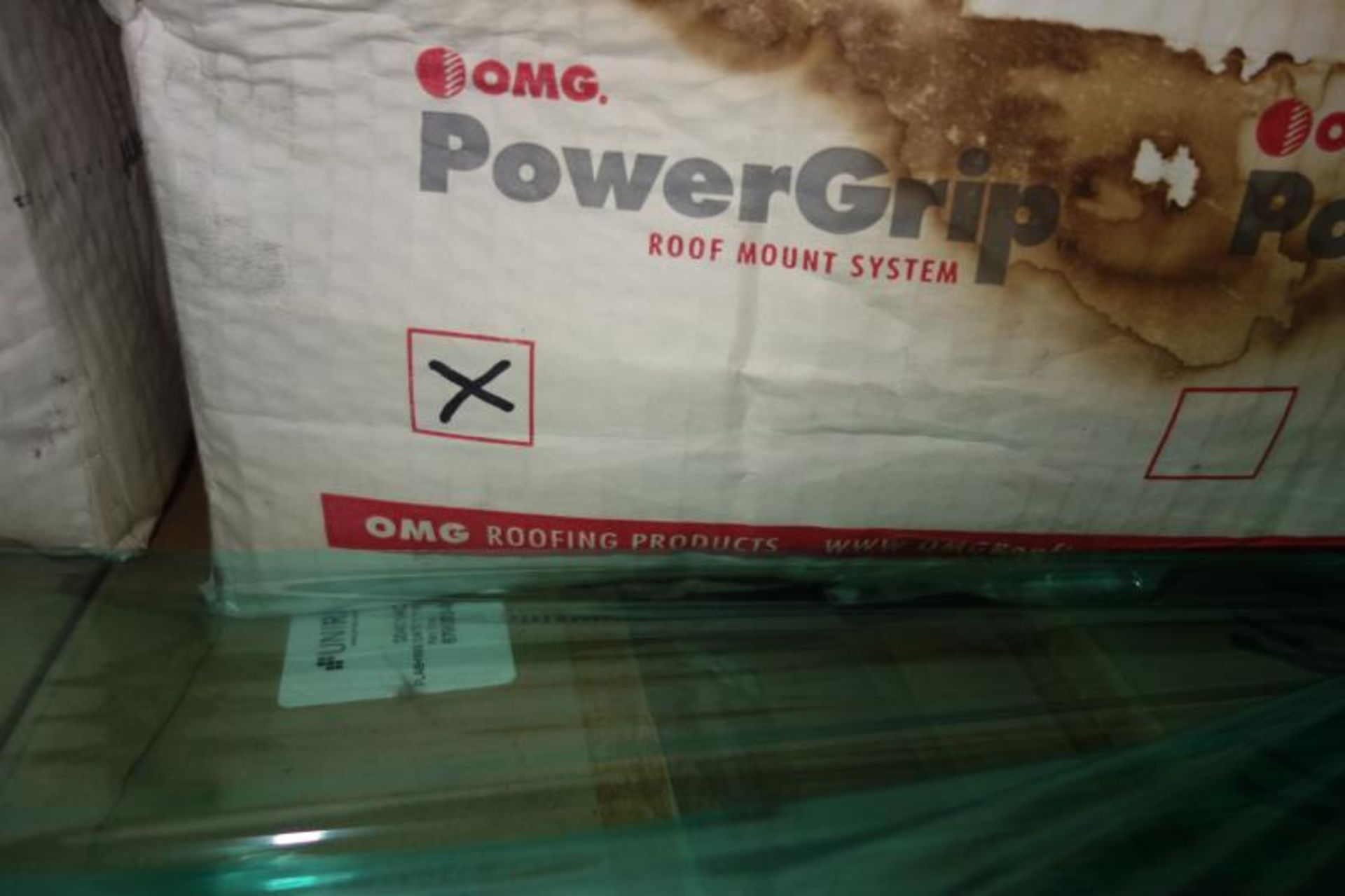 Lot 36 - Pallet of Oatley 12 No11840 NC-1 Roof Flashing, (3) Boxes Powergrip Roof Mount System