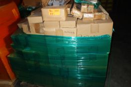 Pallet of End Clamps, Midclamps, Hardware, Bolts