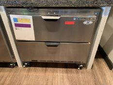 "Two Drawer Undercounter Refrigerator, 36""W by Beverage Air, Model: UCFD36AHC-2, SN: 12807988"