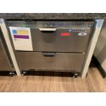 """Two Drawer Undercounter Refrigerator, 36""""W by Beverage Air, Model: UCFD36AHC-2, SN: 12807988"""