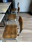 (6) Metal Dining Chairs w/ Wood Seat & Back