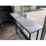 (2) 4' Stone Top Lunch Counters