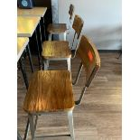 (9) Bar Stools w/ Wood Seat & Back