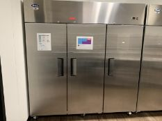 Atosa Reach-In Freezer, Model: MBF8003, Made 2018, three-section , self-contained refrigeration,