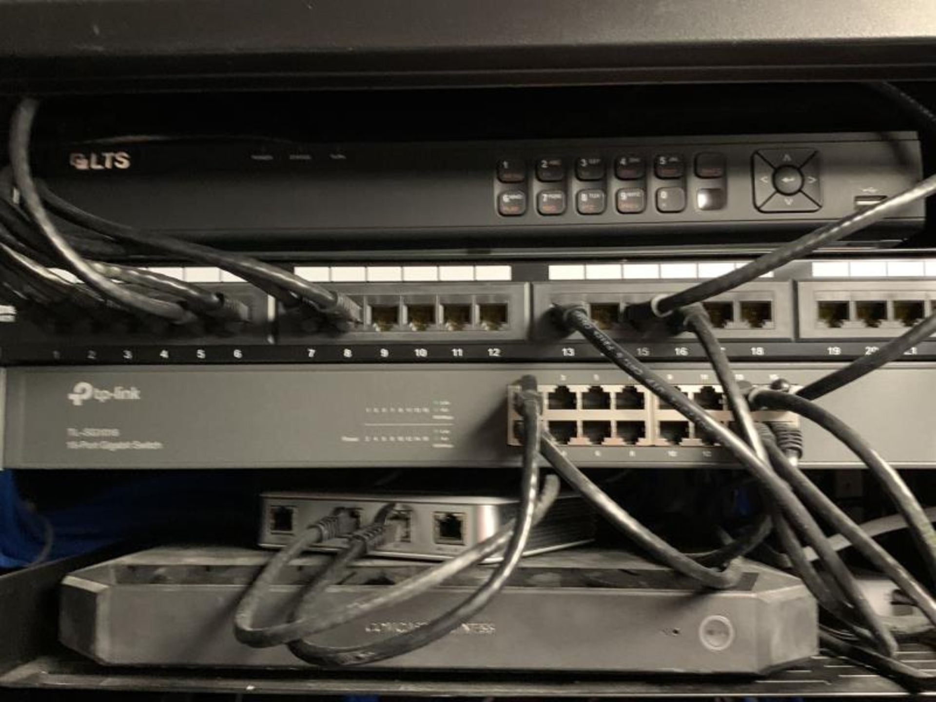 IT Cabinet, Wall Mounted w/ Cyberpower OR500, Tripp-Lite, UBL CSA 1120Z, TP-Link TL-SG1016 16 Port - Image 3 of 3