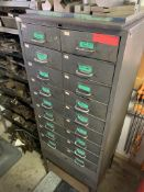 18 Drawer Parts Cabinet w/ Contents