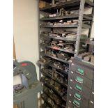 13 Shelf steel unit with scrap metal & tool steel