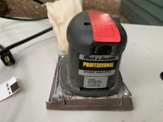 Black & Decker palm sander professional double insulated