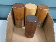 (4) Wooden boxes of center punches