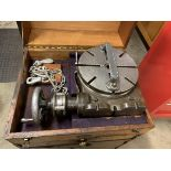 Moore Rotary table, Moore holddows with cabinet on casters