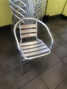 (12) Aluminum Outdoor Chairs