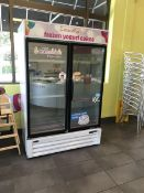 Two Door Merchandising Freezer by Norlake / Standex, Model: NLGFP48-HG-W, SN: 243535-06602