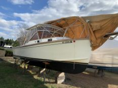 "1990 26' 9""  Fortier Downeast Style Powerboat Bankrupty Sale"