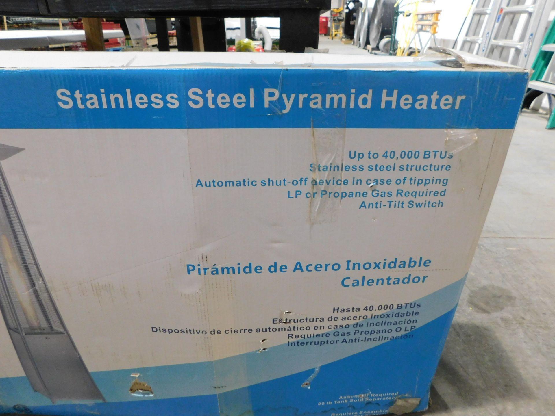 Lot 18 - Garden Sun Stainless Steel Pyramid Heater, LP or Propane Gas