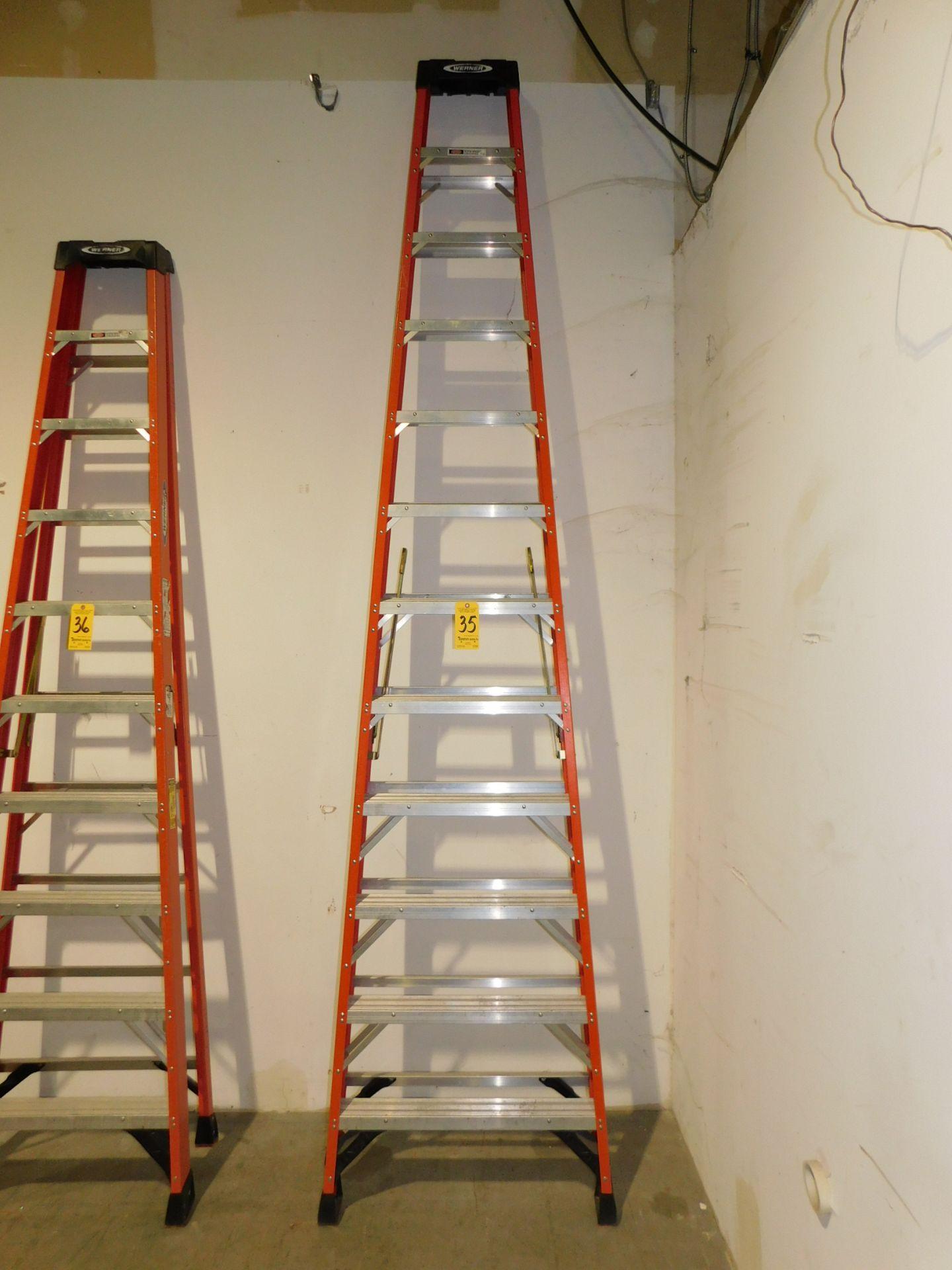 Lot 35 - Werner 12' Fiberglass Step Ladder