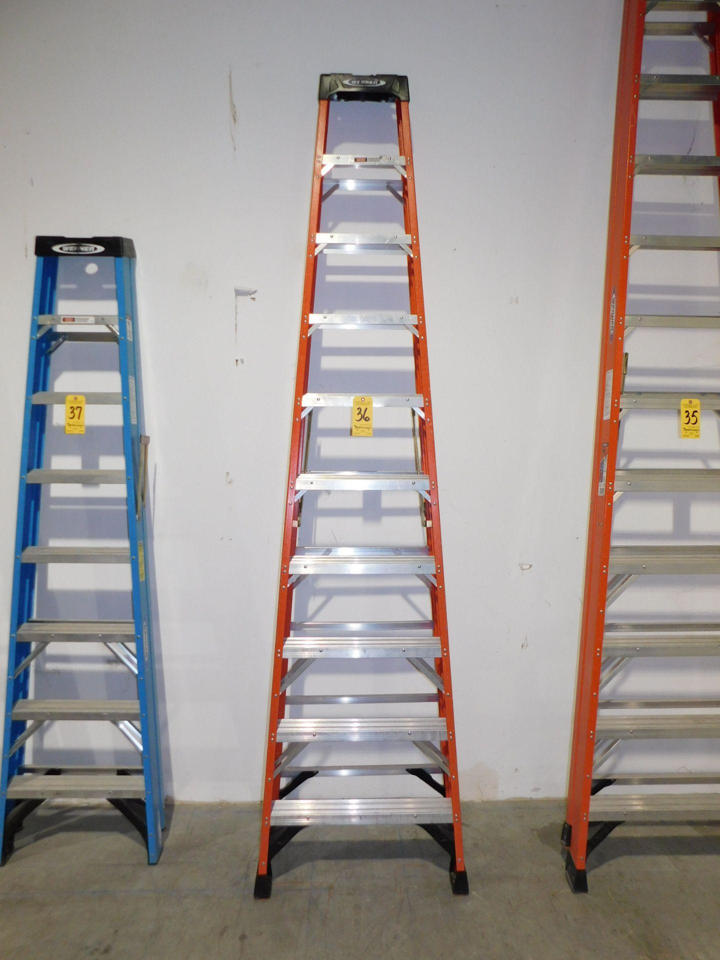 Lot 36 - Werner 10' Fiberglass Step Ladder