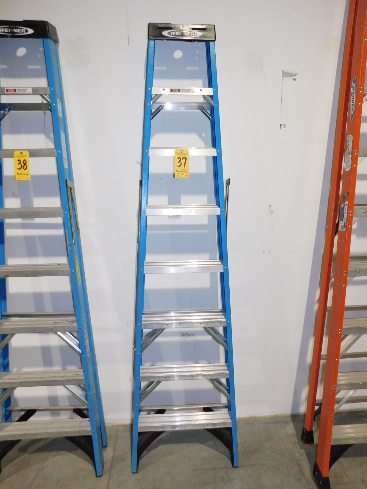 Lot 37 - Werner 8' Fiberglass Step Ladder