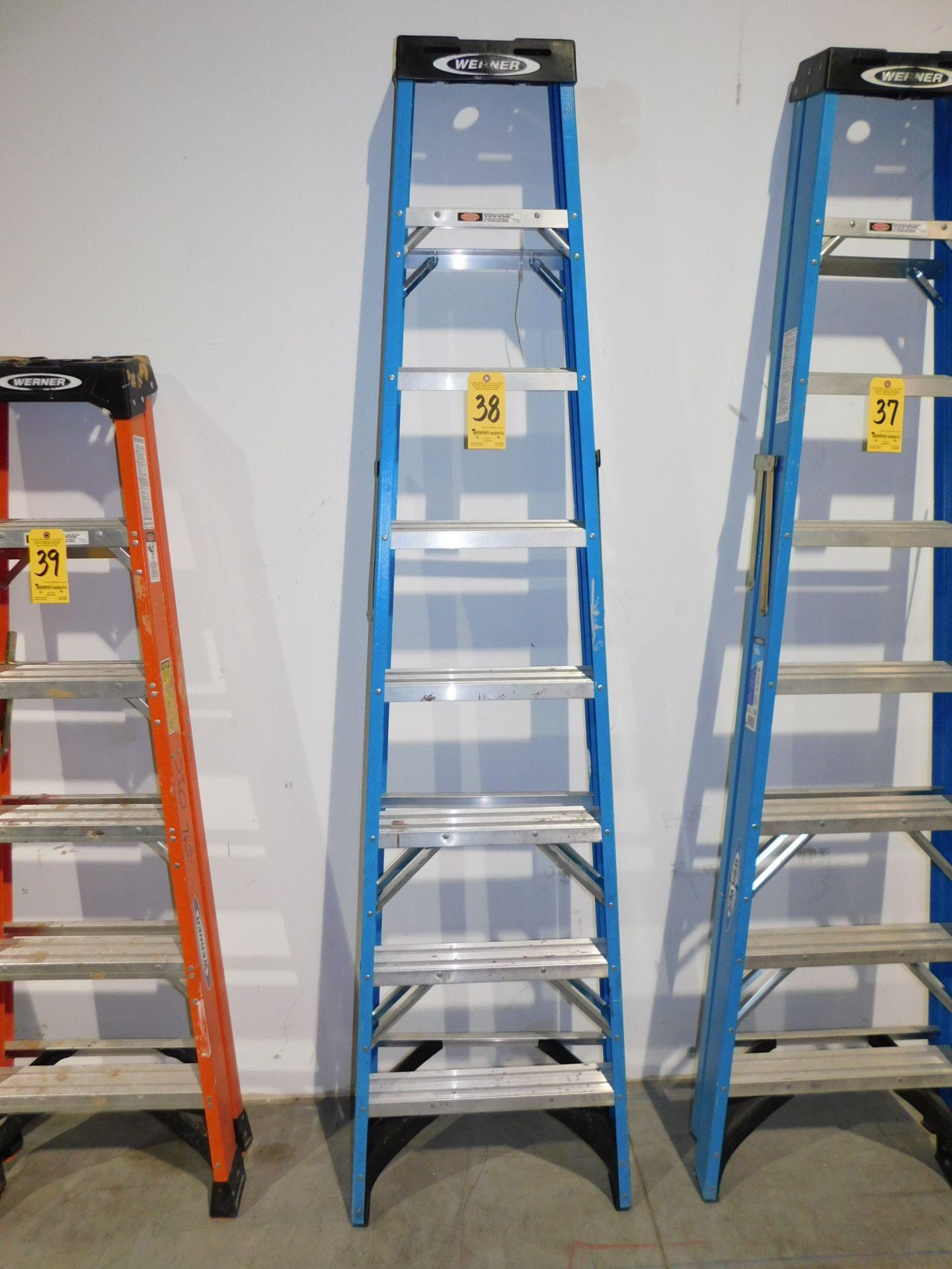 Lot 38 - Werner 8' Fiberglass Step Ladder