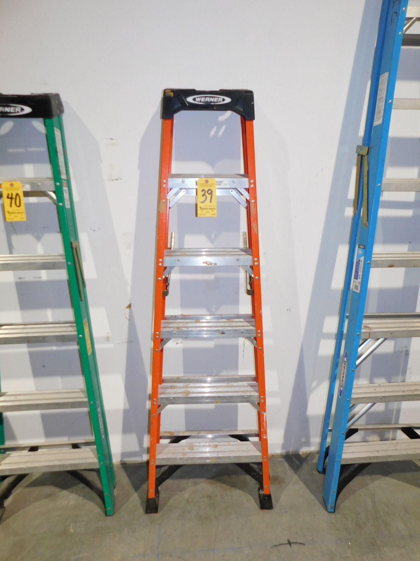 Lot 39 - Werner 6' Fiberglass Step Ladder