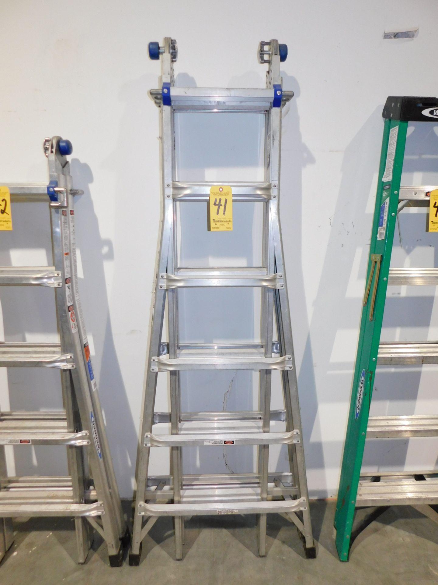 Lot 41 - Werner MT-26 Aluminum Ladder, 25' Reach