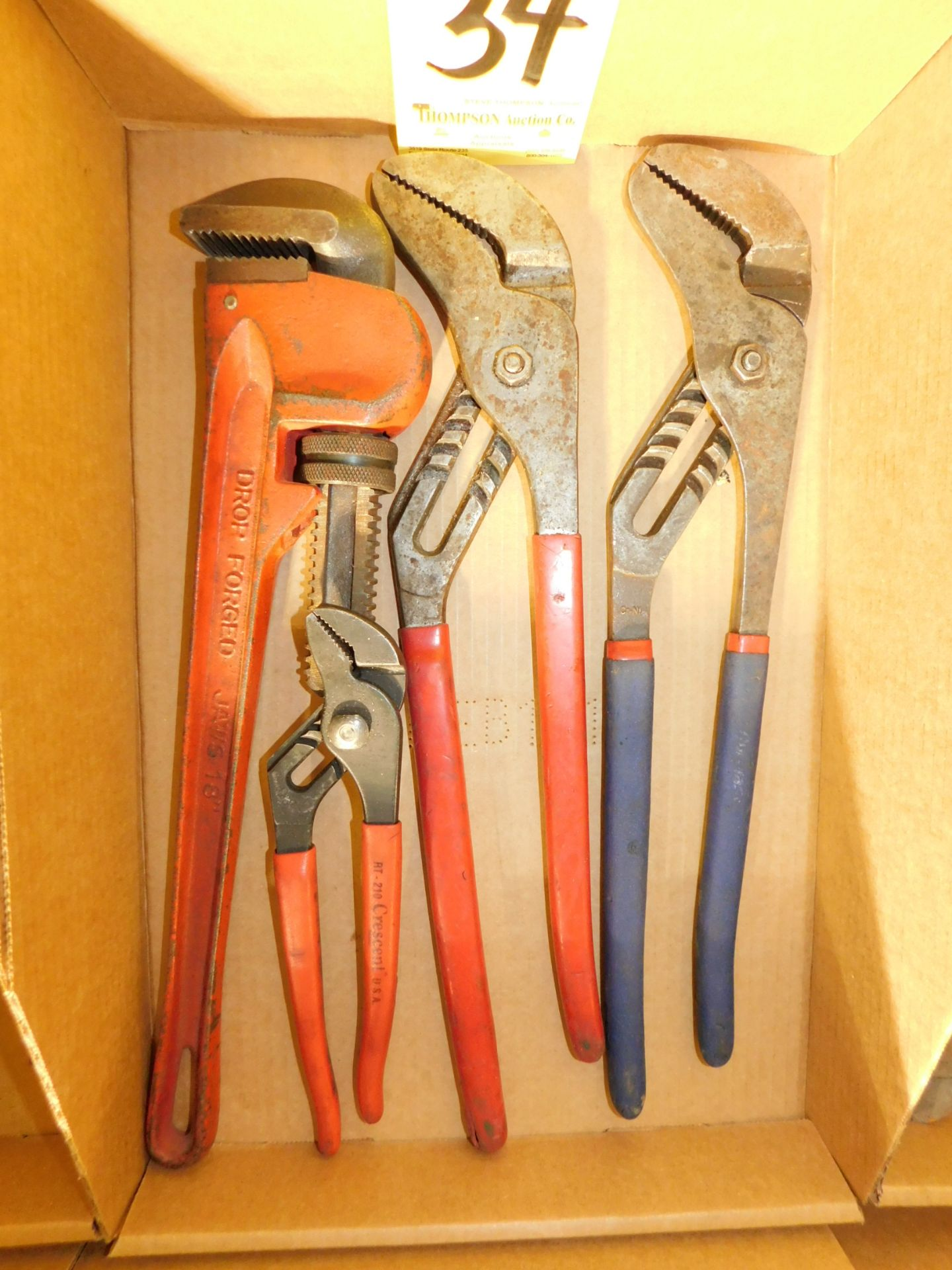 Lot 34 - Channel Locks and Pipe Wrench, Lot Location 3204 Olympia Dr. A, Lafayette, IN 47909