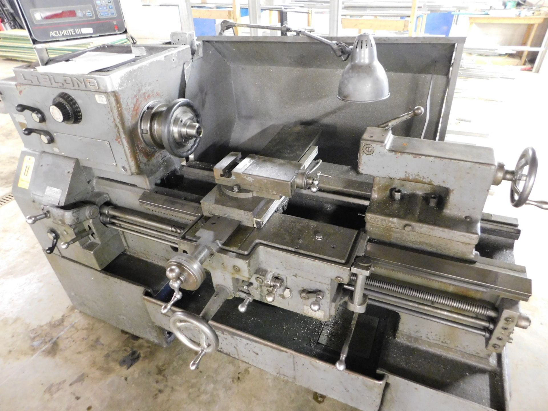 "Lot 11 - Leblond 19"" x 36"" ServoShift Toolroom Lathe, SN 5E-345, 5C Spindle Nose Collet Chuck, 10"" 6-Jaw"
