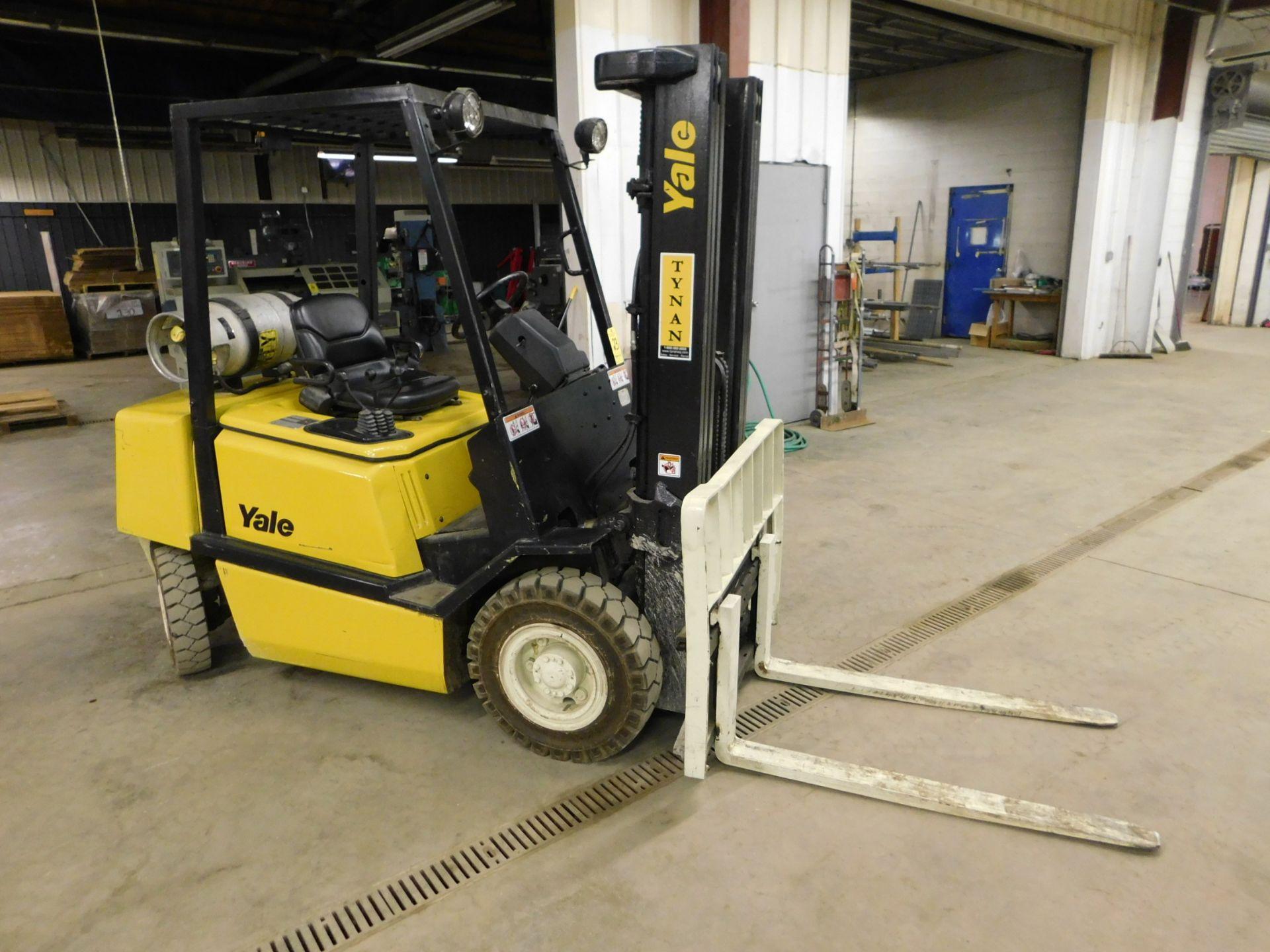 Lot 23 - Yale Model GTP050JFNUAE086 Forklift, SN E177B18357U, 4,700 lb. Cap. LP, Solid Pneumatic Tires, 3-