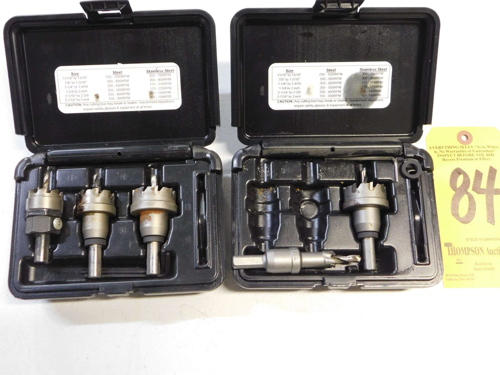 Lot 84 - Fastenal Carbide Tipped Hole Cutters, Lot Location 3204 Olympia Dr. A, Lafayette, IN 47909