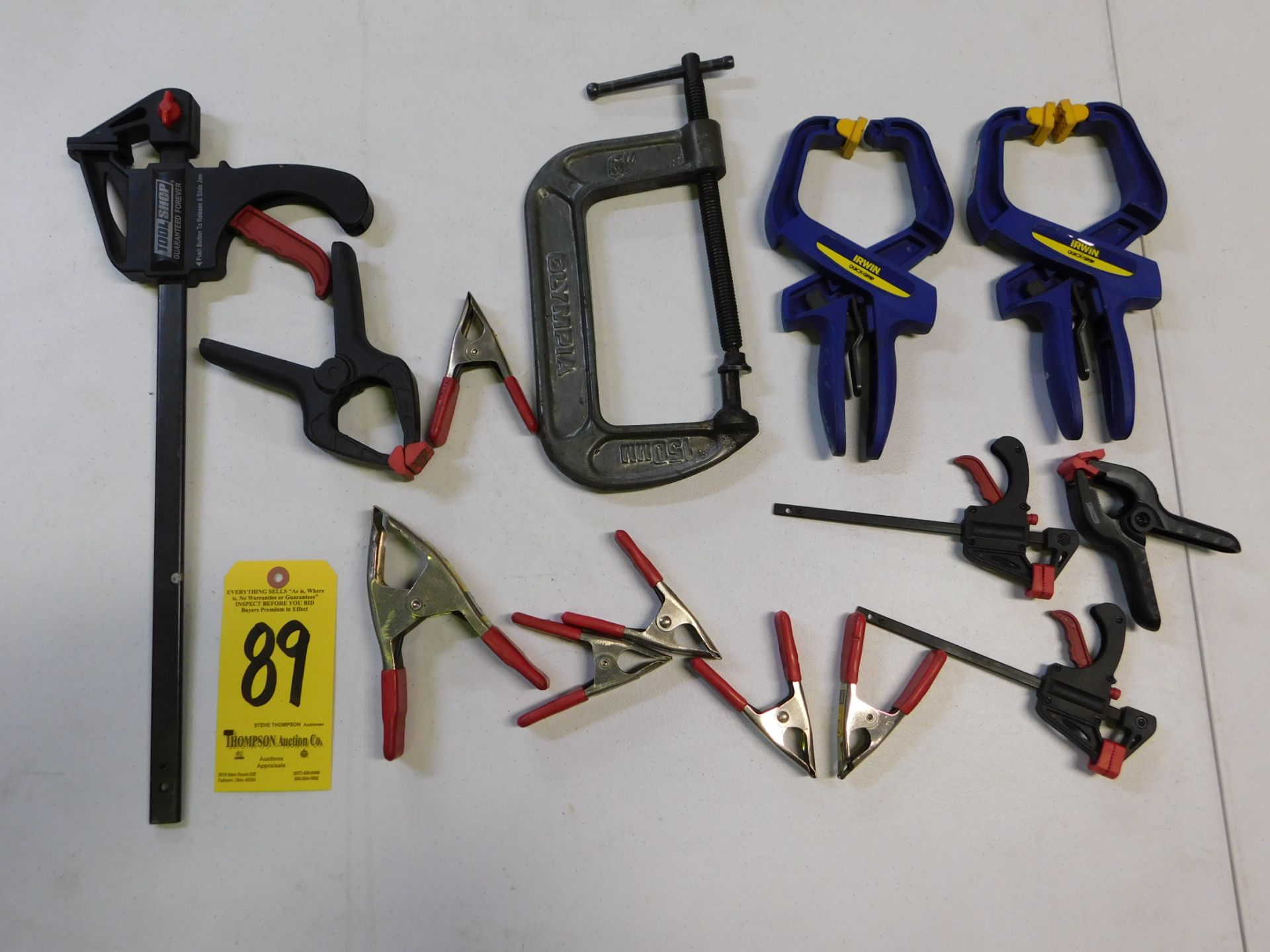 Spring Clamps, C-Clamp and Quick Adjust Clamps, Lot Location 3204 Olympia Dr. A, Lafayette, IN