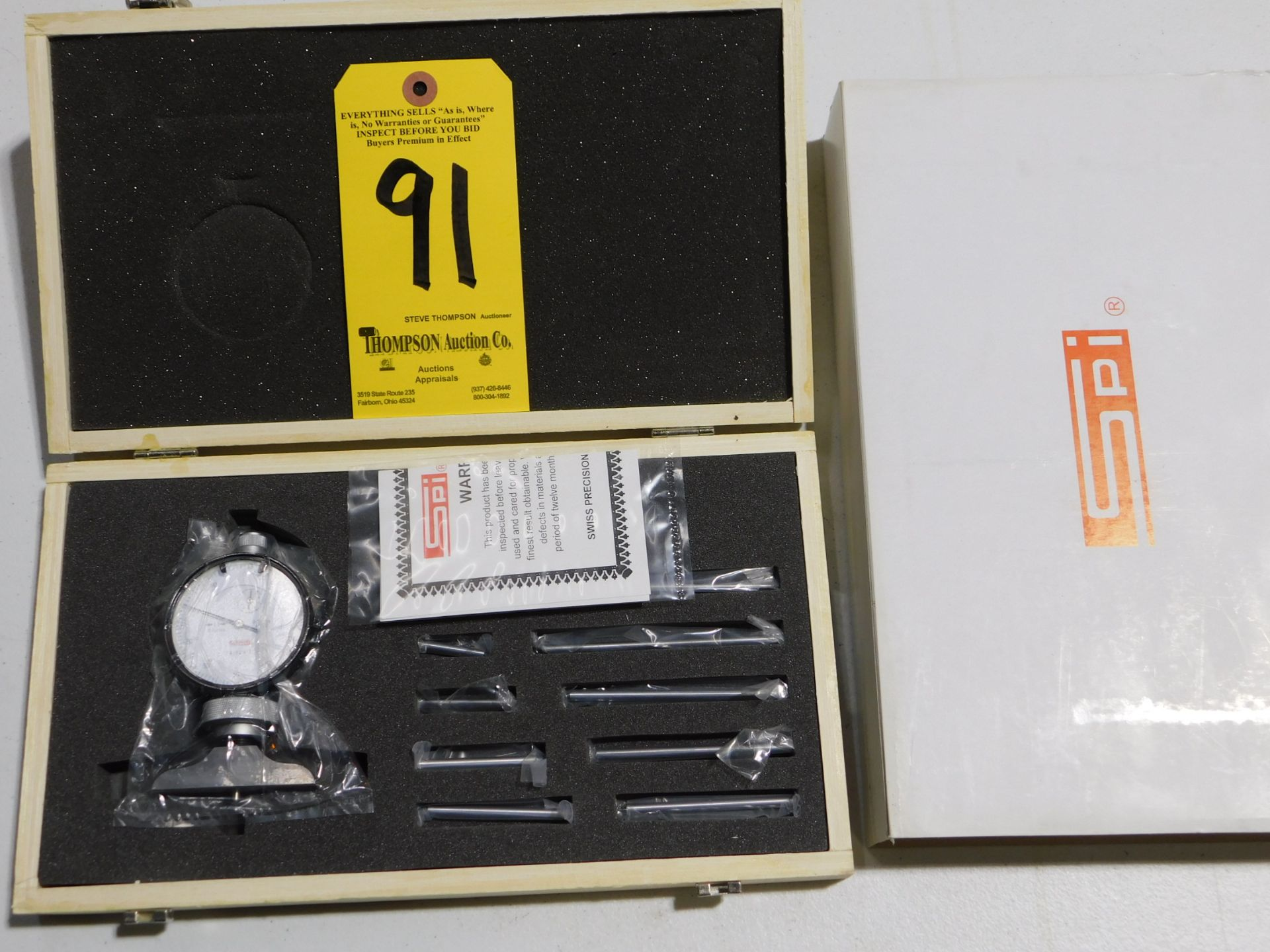 SPI 14-529-2 Dial Depth Gage, Lot Location 3204 Olympia Dr. A, Lafayette, IN 47909
