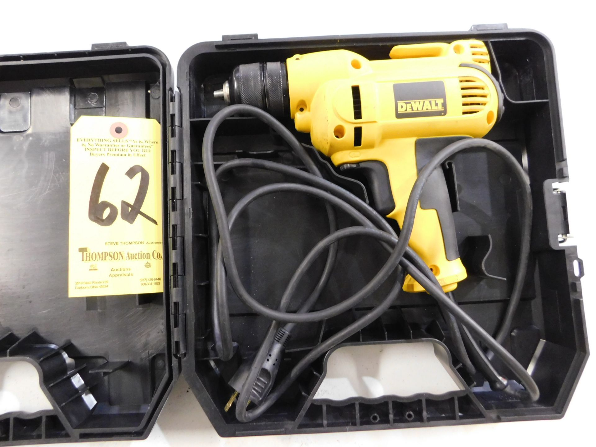 """Dewalt DWD115 3/8"""" Electric Drill with Case, Lot Location 3204 Olympia Dr. A, Lafayette, IN 47909"""