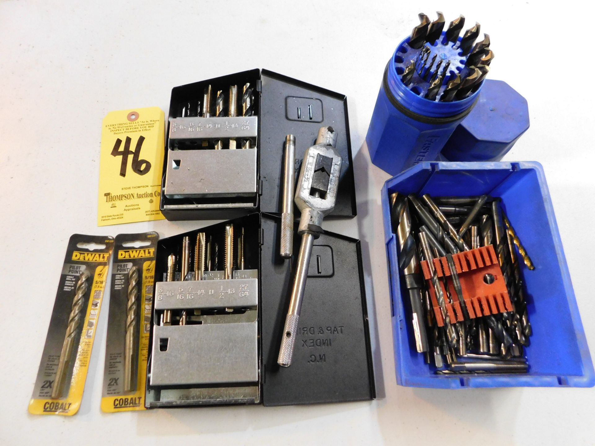 Lot 46 - Drill Bits and Taps, Lot Location 3204 Olympia Dr. A, Lafayette, IN 47909